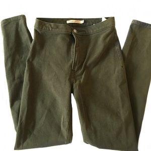 Levi's Super Skinny Olive Jean Leggings
